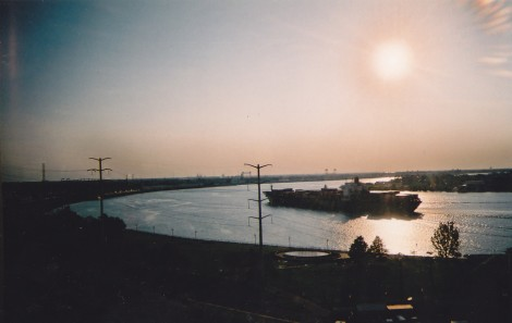 Mississippi River at sunset