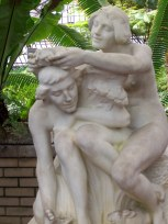 man and woman sculpture