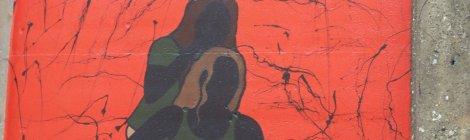 mural of people
