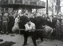 strongman by Robert Doisneau