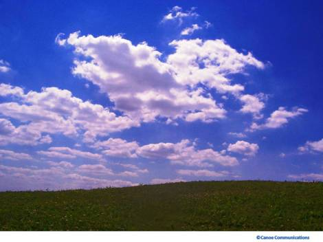 clouds fill the sky
