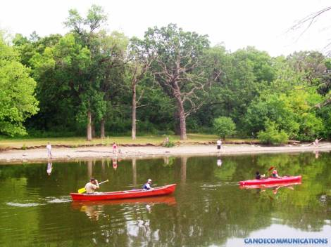 family canoeing and kayaking