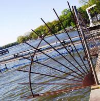 fan-shaped gate