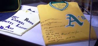 Jackson's signed MVP baseball jersey