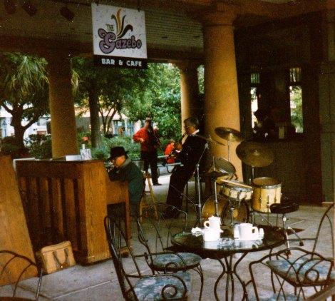 musicians play at the Gazebo Bar & Cafe