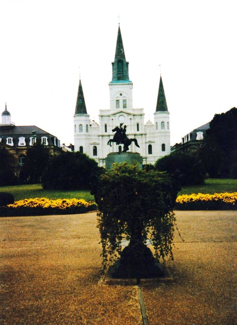 St. Louis Cathedral and the French Quarter
