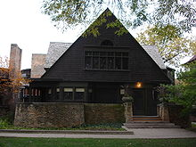 Wright home in Oak Park, Illinois