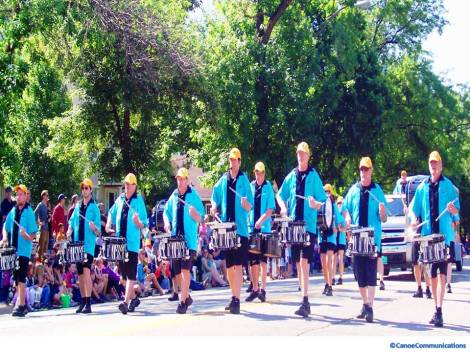 Zebra Band dances and performs with drums