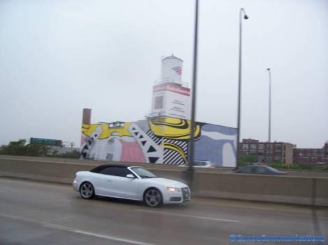 car matches building art