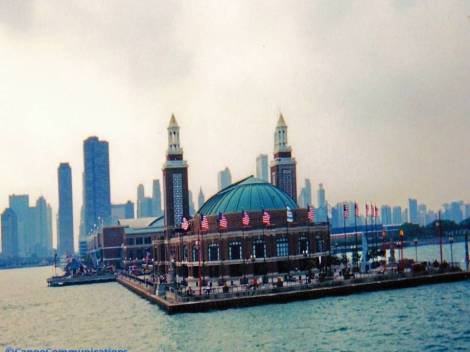 Navy Pier, Chicago skyline, Lake Michigan, Chicago, Illinois