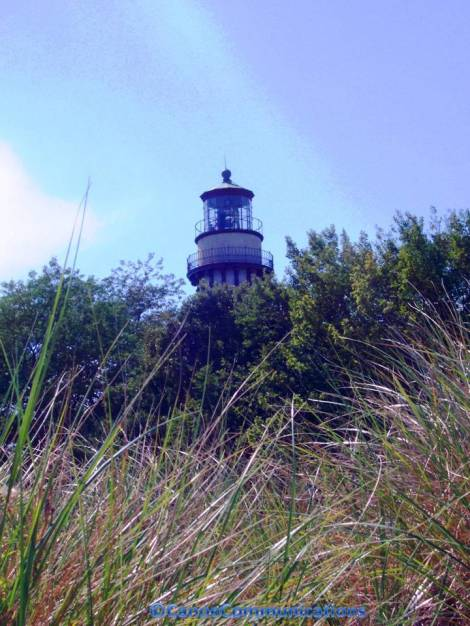 lighthouse and sand dunes