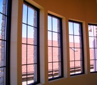 curved set of windows