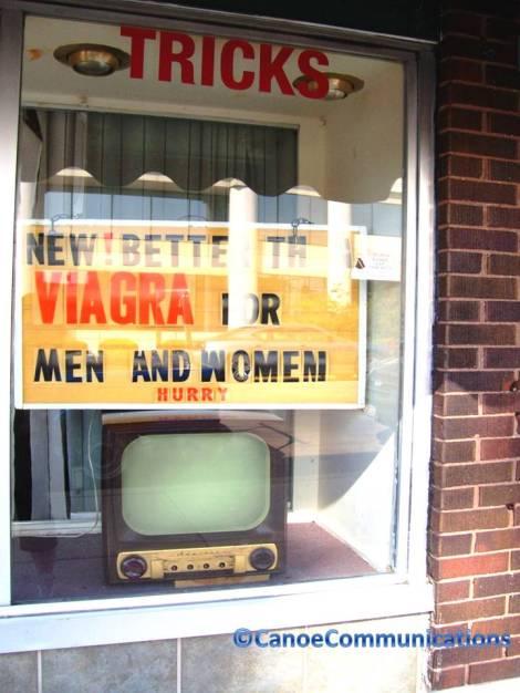 better than Viagra sign