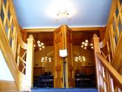 curved wood staircase