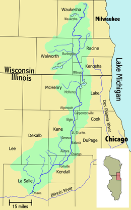Fox River Map from Wikipedia