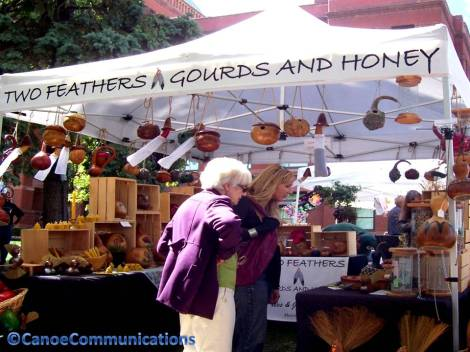 gourds and honey booth
