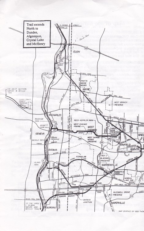 Fox River Trail map