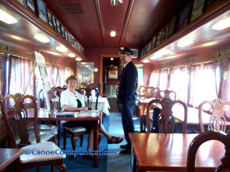 couple in a dining car