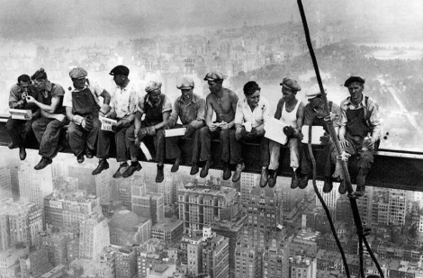 lunchtime atop a skyscraper by Ebbets