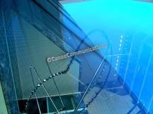 sky colored atrium