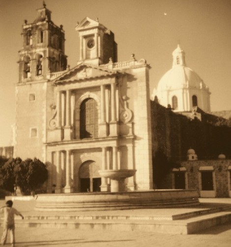 cathedral in sepia