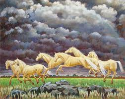 Horses under Two Rainbows by Molly Luce