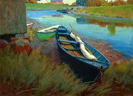 Boats at Rest by Arthur Wesley Dow