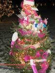 Christmas pink tree