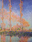 Claude Monet Poplars Autumn