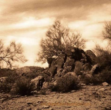 hot desert sky