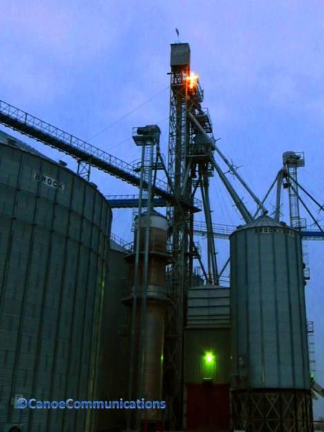 grain silo and cross