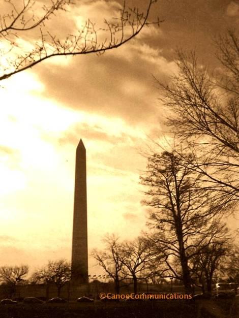 sepia Washington Monument
