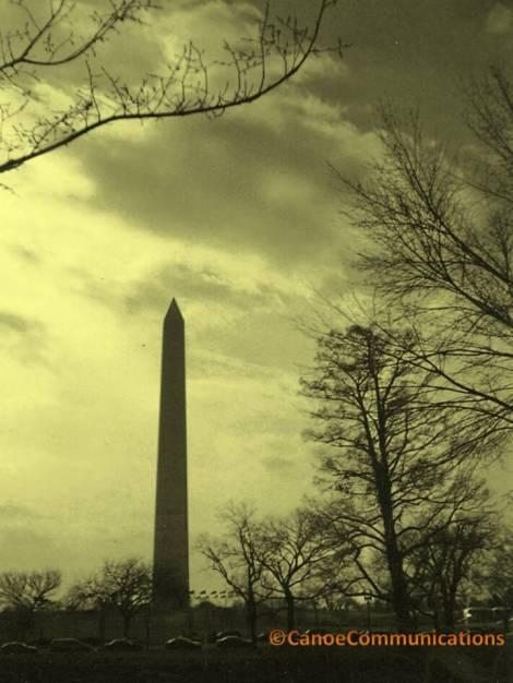 Washington Monument silhouette