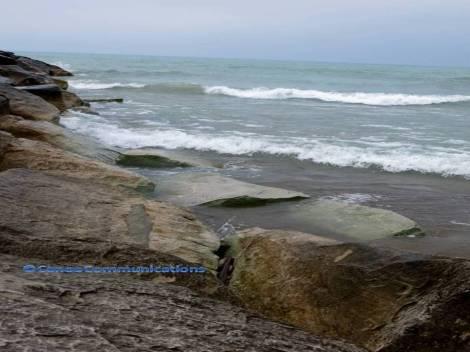 Michigan beach breakwater