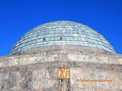 copper dome and rainbow granite