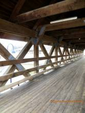 wood covered bridge