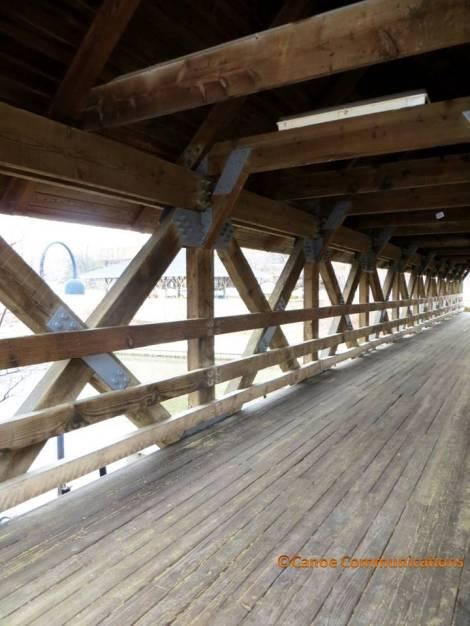 wood covered bridge