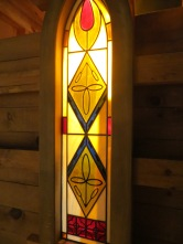 Prairie Design Stained Glass Window