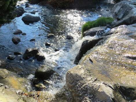 waterfall flows