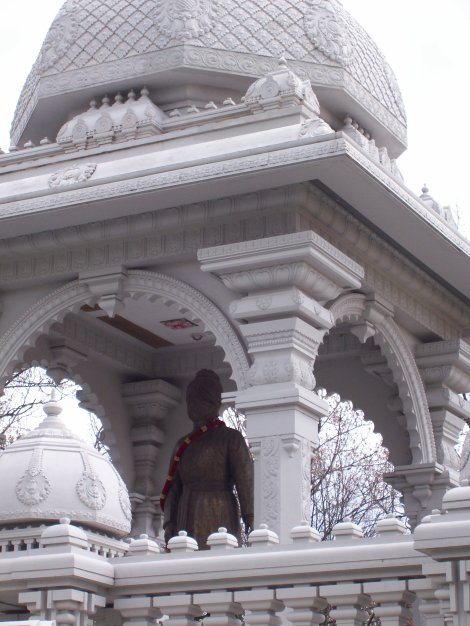 Hindu shrine close up
