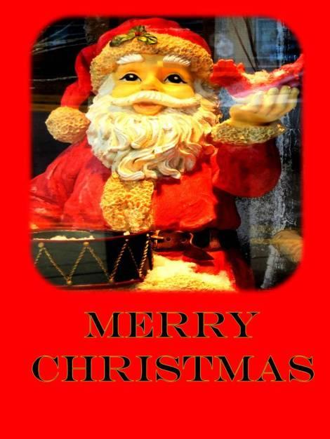 Santa Claus and cardinal