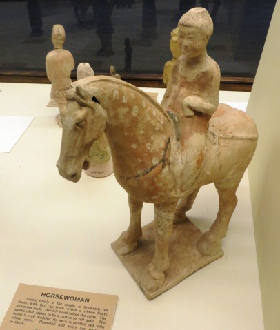 clay horsewoman