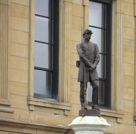 Union Soldier Statue, Lincoln, IL